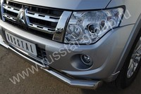 Защита переднего бампера d76/42 (секции дуга) для Mitsubishi Pajero 4 (2012 -) MP4Z-001037