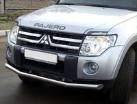 Защита переднего бампера d76 (3 секции) для Mitsubishi Pajero 4 (2006 -) MPZ-000133