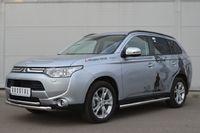 Защита переднего бампера d63/42(дуга) для Mitsubishi  Outlander (2012 -) MRZ-001048
