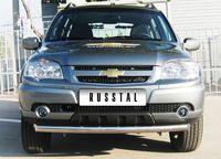 Защита переднего бампера d63 (дуга) для Chevrolet Niva Bertone (2009 -) NBZ-001182