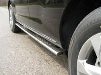 Пороги овальные с проступью 75x42мм для Nissan Murano (2008 -) NISMUR09-04