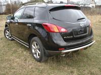 Защита задняя (центральная) 60,3/42,4мм для Nissan Murano (2008 -) NISMUR09-06