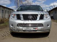 Защита передняя нижняя 75х42 мм для Nissan Pathfinder (2010 -) NISPAT10-01
