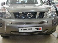 Решётка радиатора верхняя 12 мм для Nissan X-Trail (2007 -) NISXTR07-07