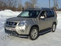 Защита передняя нижняя 60,3/42,4мм для Nissan X-Trail (2011 -) NISXTR11-01