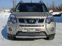 Защита передняя нижняя (овальная) 75х42 мм для Nissan X-Trail (2011 -) NISXTR11-02