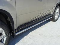 Пороги труба 60,3 мм для Nissan X-Trail (2011 -) NISXTR11-03