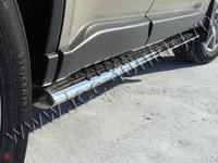 Пороги овальные с проступью 75х42 мм для Nissan X-Trail (2011 -) NISXTR11-04