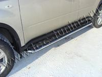 Пороги с площадкой 42,4 мм для Nissan X-Trail (2011 -) NISXTR11-05