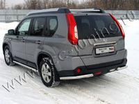 Защита задняя (уголки) 60,3 мм для Nissan X-Trail (2011 -) NISXTR11-08