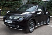 Защита переднего бампера d63 (дуга) для Nissan Juke 4x4 (2010 -) NJ4Z-000880