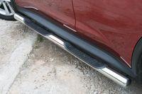 Пороги с проступями d76 для Nissan Juke 4x4 (2010 -) NJU4.81.1392