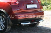 Защита заднего бампера d76 с проступью для Nissan Juke (2010 -) NJUK.75.1353
