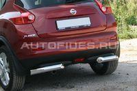 """Защита заднего бампера """"уголки"""" d76 одинарные для Nissan Juke (2010 -) NJUK.76.1348"""