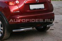 """Защита заднего бампера """"уголки"""" d60 одинарные для Nissan Juke (2010 -) NJUK.76.1349"""