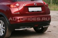 """Защита заднего бампера """"уголки"""" d42 одинарные для Nissan Juke (2010 -) NJUK.76.1350"""