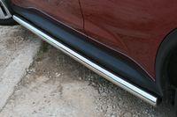 """Пороги """"труба"""" d60 для Nissan Juke (2010 -) NJUK.80.1343"""
