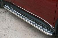 Пороги с листом d42 для Nissan Juke (2010 -) NJUK.82.1346