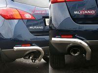 """Защита задняя """"уголки"""" d60 для Nissan Murano (2008 -) NMUR.76.0833"""