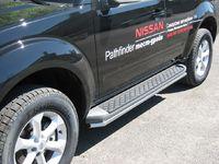 Пороги труба d42 (вариант 1) для Nissan Pathfinder (2010 -) NNT-000355/1-2010
