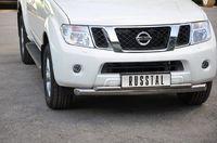 Защита переднего бампера d76/42 (дуга) для Nissan Pathfinder (2010 -) NNZ-000353