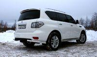 """Защита заднего бампера """"уголки"""" d60 одинарные для Nissan Patrol (2010 -) NPAT.76.1216"""