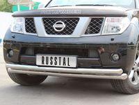 Защита переднего бампера d76/63 (дуга) для Nissan Pathfinder (2005 -) NPZ-000353