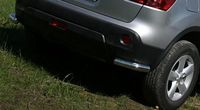Защита задняя «уголки» d60 для Nissan Qashqai +2 (2010 -) NQSH.76.0945