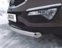 Защита переднего бампера d63 (дуга) для Kia Sportage (2010 -) NSPZ-000762