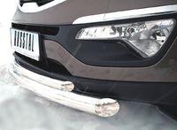 Защита переднего бампера d63/42 (дуга) для Kia Sportage (2010 -) NSPZ-000763