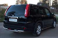 Защита заднего бампера d63/63 (дуга) для Nissan X-Trail (2011 -) NTZ-000918