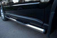 Пороги труба d76 с накладками (вариант 2) для Nissan X-Trail (2007 -) NXT-000097/2