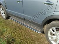 Пороги с площадкой 42,4 мм для Opel Antara (2012 -) OPANT12-03