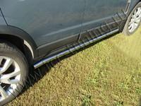 Пороги труба 60,3 мм для Opel Antara (2012 -) OPANT12-04