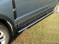 Пороги овальные с проступью 75х42 мм для Opel Antara (2012 -) OPANT12-05