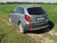 Защита задняя (центральная овальная) 75х42 мм для Opel Antara (2012 -) OPANT12-06