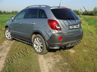 Защита задняя (уголки) 60,3 мм для Opel Antara (2012 -) OPANT12-08