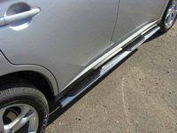 Пороги овальные с накладкой 75х42 мм для Opel Antara (2012 -) OPANT12-10