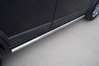 Пороги труба d63 (вариант 3) для Peugeot 3008 (2009 -) P38T-0004223