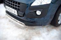 Накладка на передний бампер d42 (секции) для Peugeot 3008 (2009 -) P38Z-000420