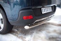 Защита заднего бампера d63 (дуга) для Peugeot 3008 (2009 -) P38Z-000430