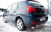 Защита заднего бампера d63/42 (дуга) для Peugeot 3008 (2009 -) P38Z-000431