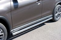 Пороги труба d63 (вариант 2) для Peugeot 4008 (2012 -) P48T-0005342-4008