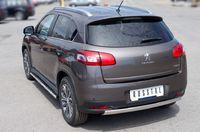 Защита заднего бампера d75х42 овал для Peugeot 4008 (2012 -) P48Z-000539
