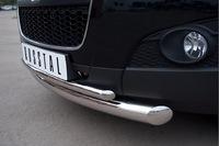 Защита переднего бампера d76/42 (дуга) для Peugeot 4007 (2007 -) P4Z-000301