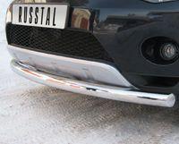 Защита переднего бампера d76 (дуга) для Peugeot 4007 (2007 -) P4Z-000302