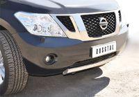 Защита переднего бампера d76 (дуга) короткая для Nissan Patrol (2010 -) PAZ-000782