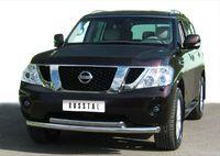 Защита переднего бампера d76/63 (дуга) для Nissan Patrol (2010 -) PAZ-000788
