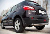 Защита заднего бампера d63 (дуга) для Nissan Qashqai (2010 -) QNZ-000773