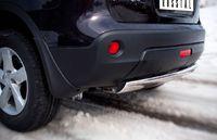 Защита заднего бампера d75х42 овал (дуга) для Nissan Qashqai (2010 -) QNZ-000778